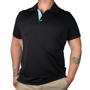 POLO'S WITH A POP! - BLACK