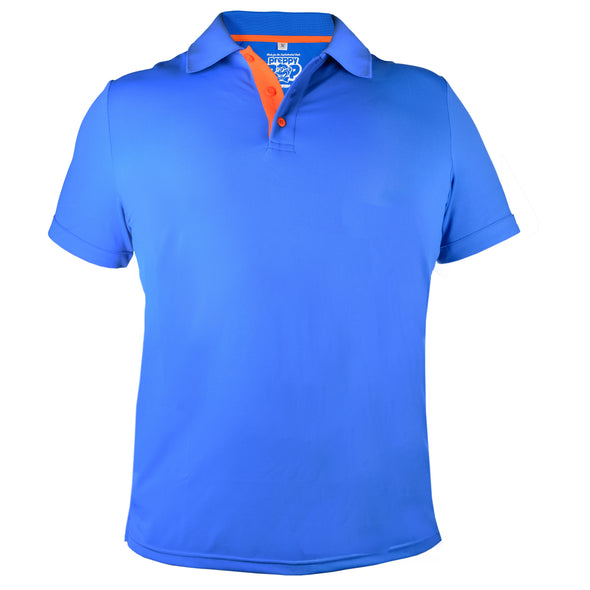 POLOS WITH A POP! - ROYAL BLUE