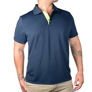 POLO'S WITH A POP! - NAVY