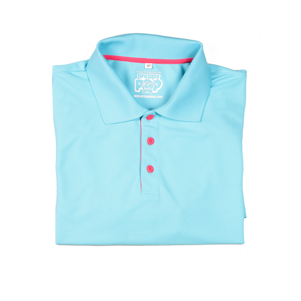 POLOS WITH A POP! - TURQUOISE