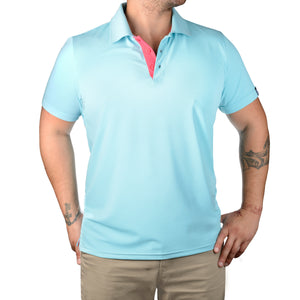 POLO'S WITH A POP! - TURQUOISE