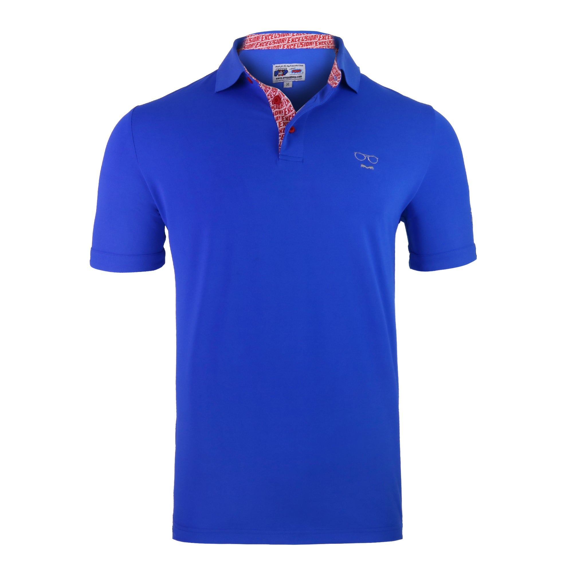 Stan Lee Signature Polo - Royal Blue