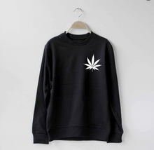 Load image into Gallery viewer, Cannabis Leaf Cleancut Sweatshirt