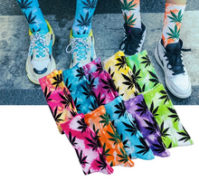 Load image into Gallery viewer, High Tie-dyed Leaf Socks