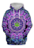 Psychedelic Leaf Collection (choose from Hoodie, Sweatshirt, Tshirt, Beach Shorts, or Tank Top)