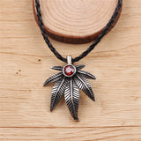Crystal Braided Leaf Necklace