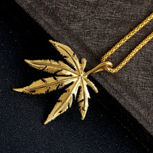 Load image into Gallery viewer, 18K Cannabis Leaf Gold plated Chain Necklace