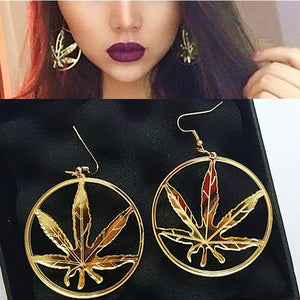 Classic Gold Leaf Earrings