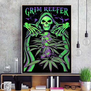 Grim Reefer Unframed Silk Canvas Poster