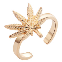 Load image into Gallery viewer, 18K Gold or .925 Silver plated Leaf Engagement/Promise Ring