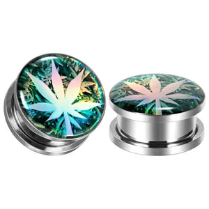 Polished High Leaf Gauges (one pair per order)