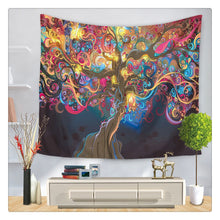 Load image into Gallery viewer, Vivid Tree Trippy Tapestry