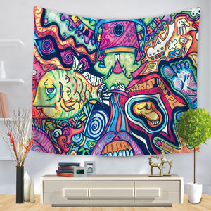 Abstract Mural Artists Tapestry