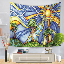 Load image into Gallery viewer, Abstract Sun Vivid Tapestry