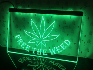 Free The Weed Night Home Illumination