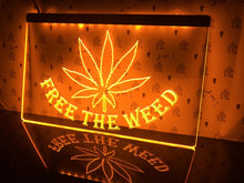 Load image into Gallery viewer, Free The Weed Night Home Illumination
