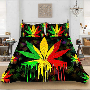 Rasta Leaf Dripping Bedset