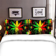 Load image into Gallery viewer, Rasta Leaf Dripping Bedset
