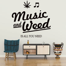 Load image into Gallery viewer, Music And Weed Great Match Wall Vinyl