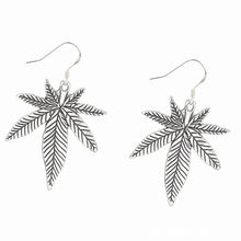 Load image into Gallery viewer, Cannabis Leaf Earrings