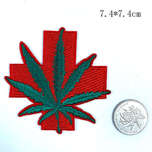 Leaf Iron-On Patch Collection