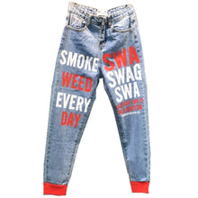 Load image into Gallery viewer, Smoke Weed Every Day Swag Jeans
