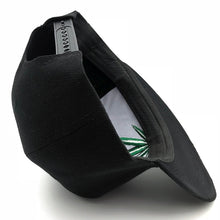 Load image into Gallery viewer, Large Leaf Black Snapback
