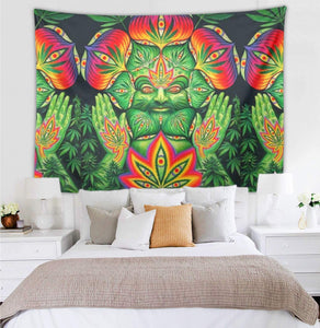 Leaf God Museum Gallery Wall Tapestry