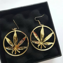 Load image into Gallery viewer, Classic Gold Leaf Earrings
