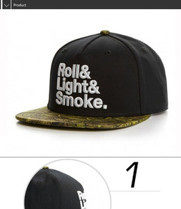 Roll It, Light It, Smoke It Snapback