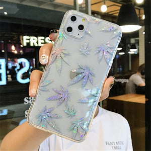 Sparkle Leaf Phone Case