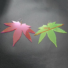Load image into Gallery viewer, Neon Leaf Custom Leaf Earrings