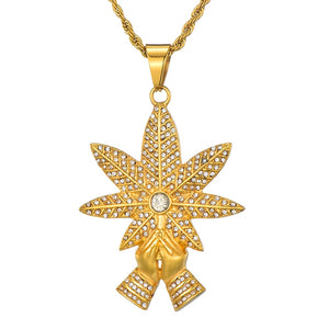 18K Gold Plated Blessed Leaf Chain