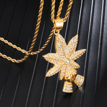 Load image into Gallery viewer, 18K Gold Plated Blessed Leaf Chain