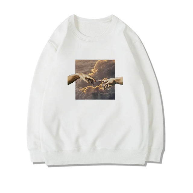 High In the Clouds With You Solemn Skies Sweatshirt
