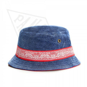 Cheech & Chong For President Vintage Denim Bucket Hat