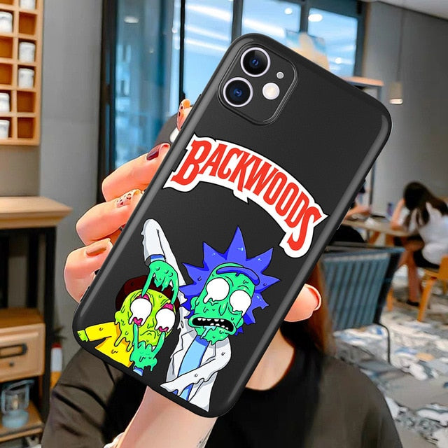 Backwoods Rick and Morty Phone Case