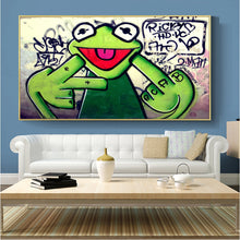 Load image into Gallery viewer, Kermie Smokie Urban Museum Gallery Unframed Canvas Poster