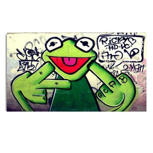 Kermie Smokie Urban Museum Gallery Unframed Canvas Poster