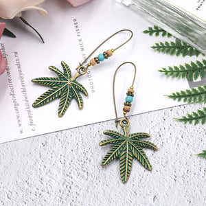 Vintage Classic Indian Boho Leaf Earrings