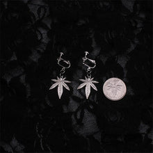 Load image into Gallery viewer, Clip-On Leaf Earrings