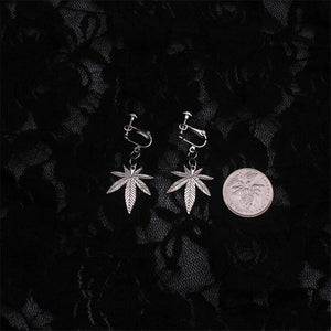 Clip-On Leaf Earrings