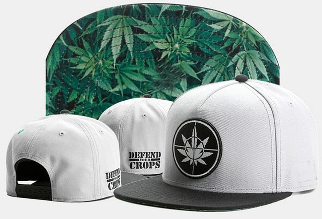 Defend the Crops Cannabis Leaf Collector's Snapback