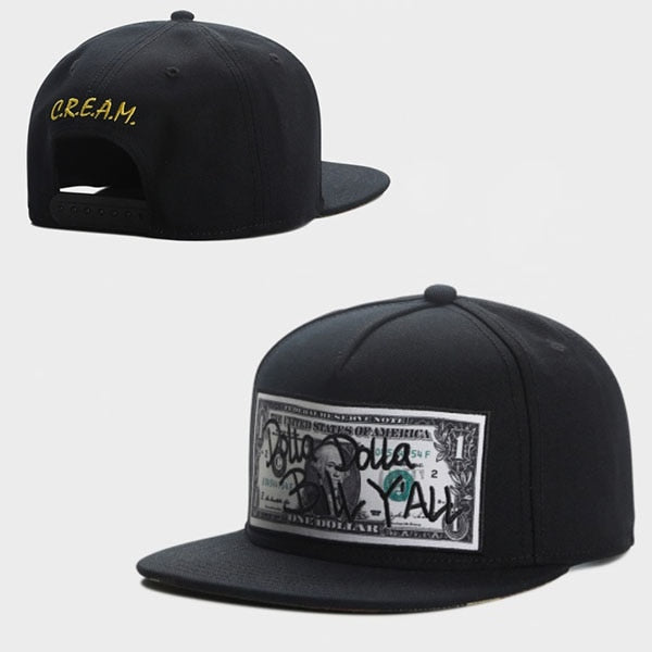 Cream Hustle Dolla Bill Retro Snapback