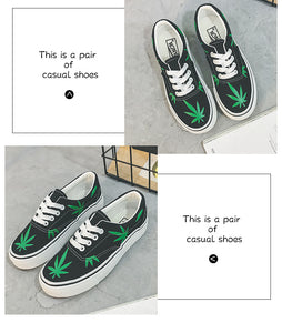 Low Top Canvas Premium Leaf Sneakers
