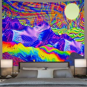 Extra Large Trippy Landscape Tapestry