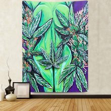 Load image into Gallery viewer, Green Leaf Goddess Tapestry