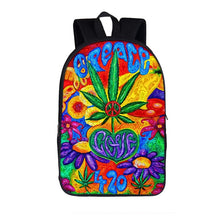 Load image into Gallery viewer, Smokie Peace Leaf Back-to-School Backpack