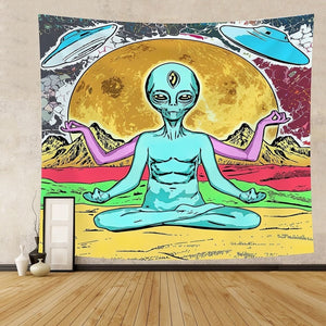 Extraterrestrial Exclusive Museum Gallery Tapestry, Sofa Cover, Beach Blanket
