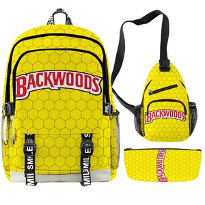 Backwoods Backpack, Should Stash Bag and Pencil Case